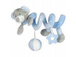 Baby-mix spiralka do wózków miś niebieski