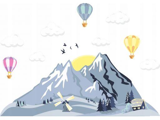 Balony chmurki góry naklejki dla dzieci 200x120cm