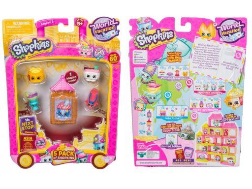Shopkins zestaw world vacation azja 5 x figurka