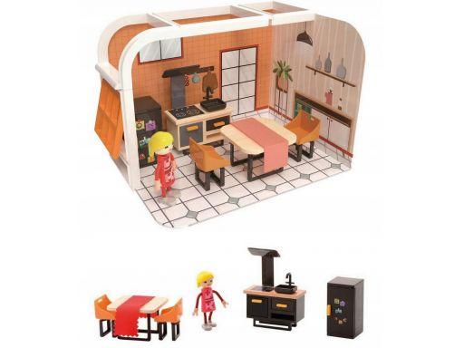 Domek dla lalek kuchnia zabawa 12 elem. joueco 3+