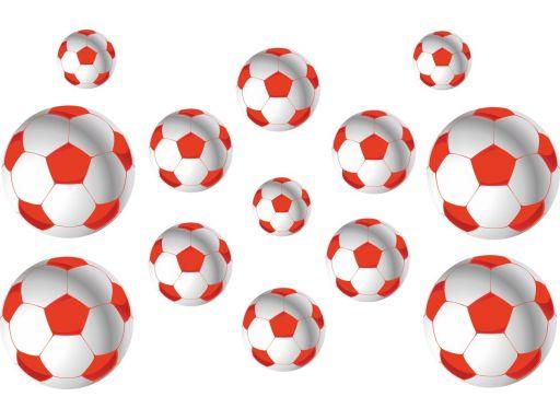 Naklejki na ścianę piłka nożna piłki gratisy czerw