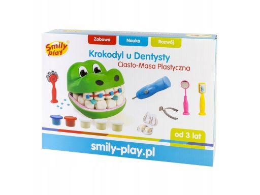 Krokodyl u dentysty - ciasto masa plastyczna