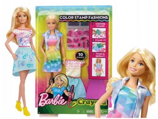 Barbie crayola lalka kolorowe stroje mattel frp05