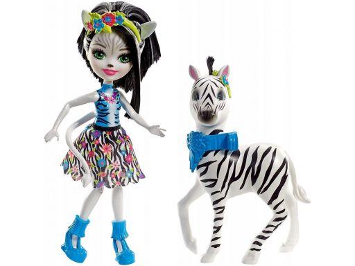 Enchantimals lalka zelena zwierzę zebra fky75