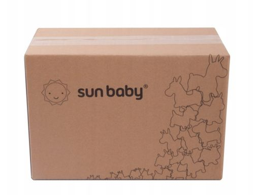 Sunbaby gumowy skoczek jednorożec biały + pompka