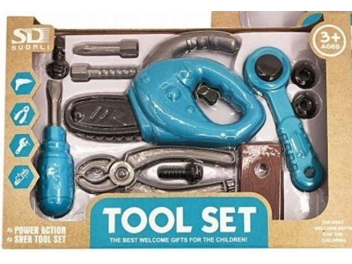Zestaw narzędzi z piłą dla dzieci 10el askato