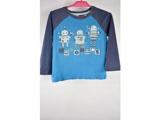 Tu niebiska koszulka w roboty r.92-98cm