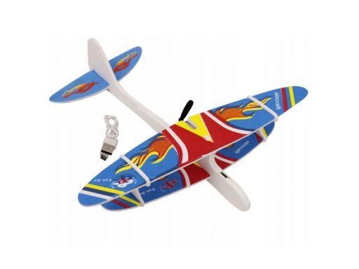 Lekki samolot ze styropianu z silnikiem port usb
