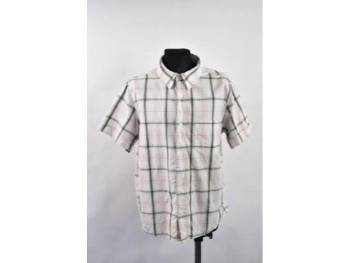 H&m koszula jasna w kratkę z kieszonką r.152