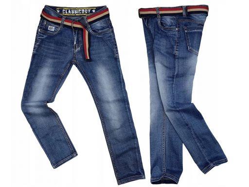 Spodnie jeans elastyczne denver 134 cm