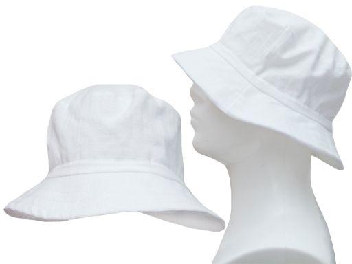 Bawełniany kapelusz 54 płócienny lekki przewiewny