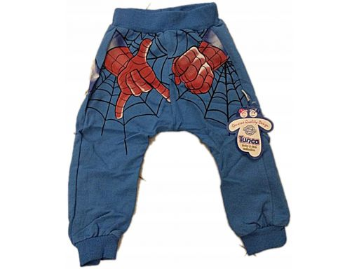 Tunca * ciepłe spodenki spiderman - 12 m-cy