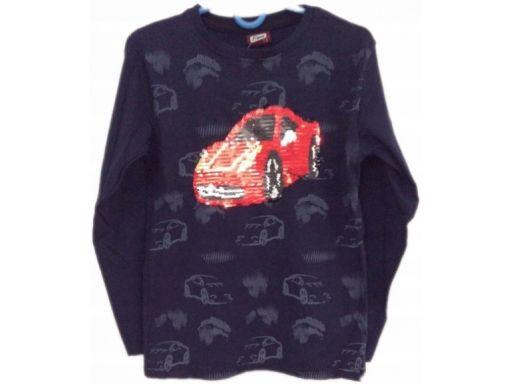 Atabay* bluzka samochód magiczne cekiny 4-5 l