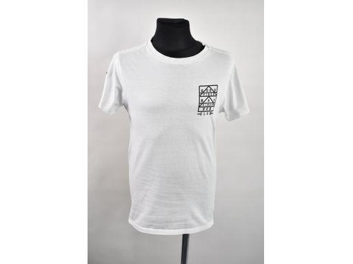Next bluzka biała z logo asymetryczny dół r.140