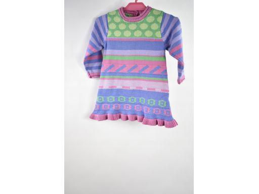 Miobic sukienka sweterkowa wielokolorowa r.74