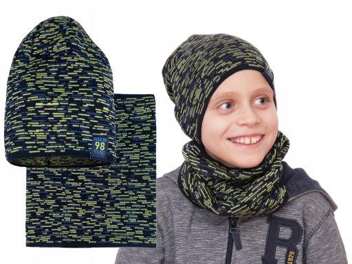 Komplet wiosna jesień czapka młodzież dzieci 50-56