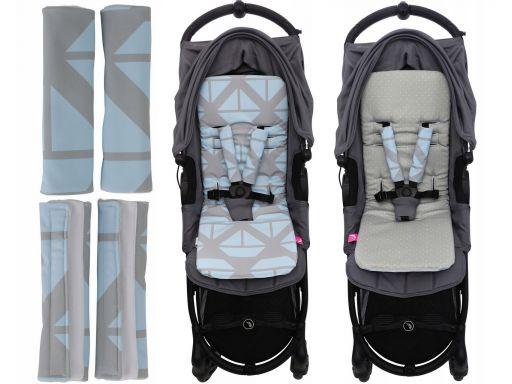 Antywstrząs.wkładka do wózka+ochraniacz motherhood