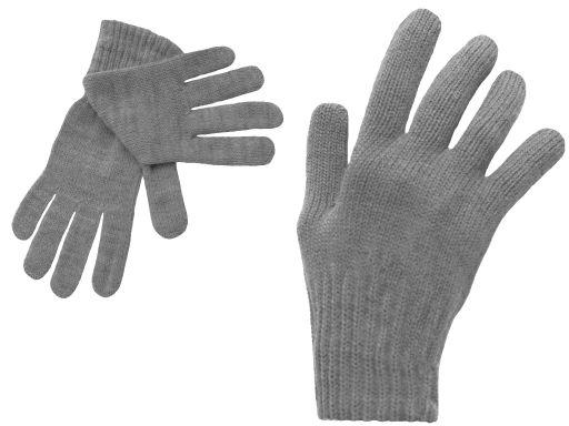 Polskie rękawiczki dzieci 8 9 10 lat szary grafit