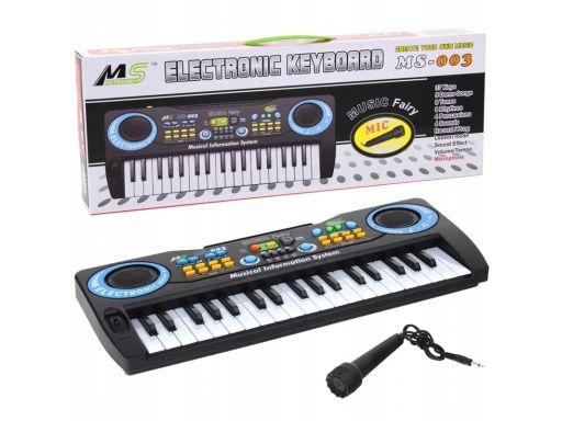 Keyboard organy pianinko z mikrofonem dla dzieci