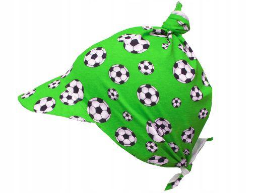 Chustka bandamka z daszkiem bawełna piłka nożna