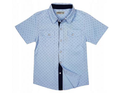 Koszula bawełniana korda r 8 - 116/122 cm blue
