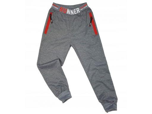 Spodnie dresowe runner r 10 - 134/140 cm grey