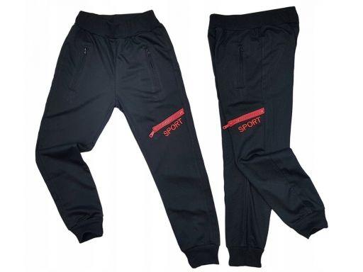 Spodnie dresowe dax sport r 12 - 146/152 cm black