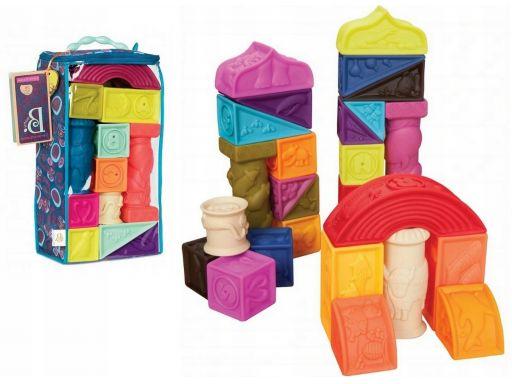 Miękkie klocki duże zestaw 26 sensoryczne b. toys