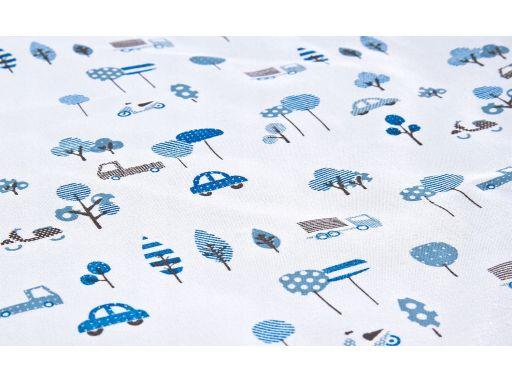 Sensillo kocyk niebieski dwustronny soft 75x100