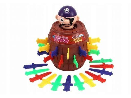 Lean toys gra zręcznościowa ukłuj pirata w beczce