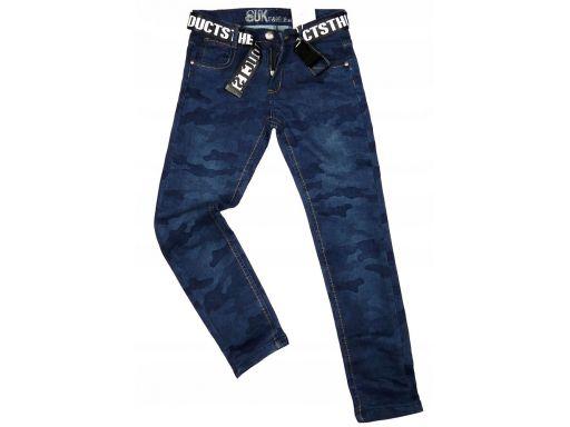 Spodnie jeans moro elastyczne rozm.146