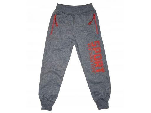 Spodnie dresowe sport city r 8 - 122/128 cm grey