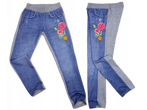 Spodnie getry rose girl r 4 - 98/104 cm