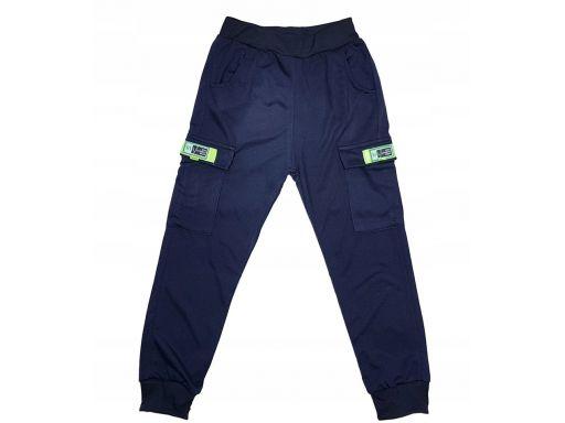 Spodnie dresowe garment r 8 - 122/128 cm granat