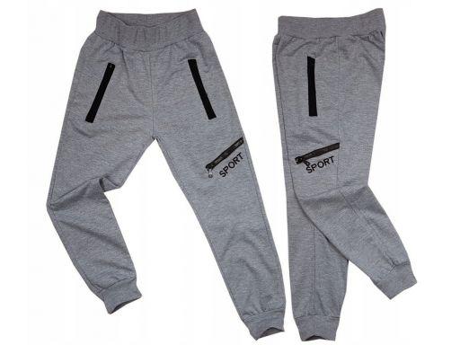 Spodnie dresowe dax sport r 14 - 152/158 cm grey