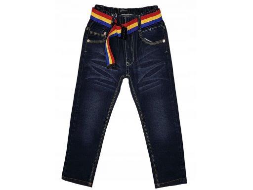 Spodnie jeans w gumkę saxon 4 ok. 98/104 dark