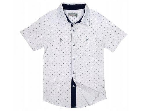 Koszula bawełniana korda r 12 - 146/152 cm biała