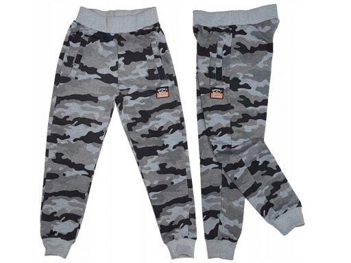 Spodnie dresowe moro bomber r 12 - 146 cm grey