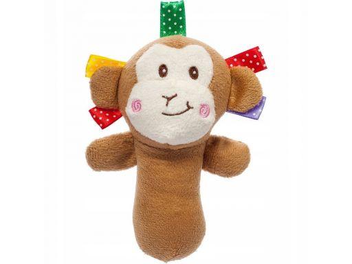 Akuku zabawka grzechotka gryzak plusz małpka
