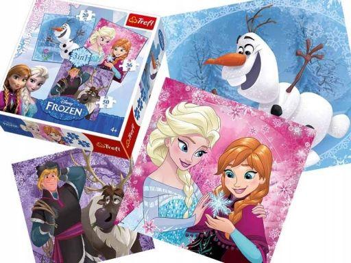 Chs puzzle trefl 3w1 20,30,50 frozen kraina 34810