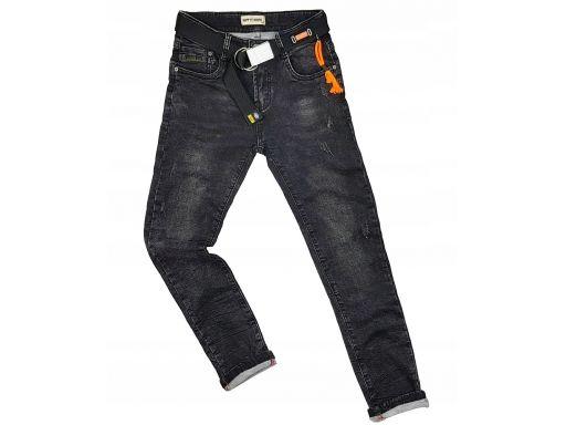 Black jeans elastyczne carl r 10 - 134 cm rurki