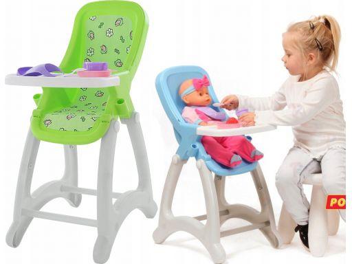 Wader krzesełko do karmienia dla lalek + akcesoria
