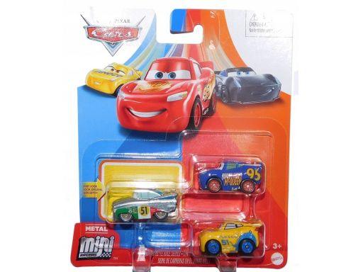 Pojazd cars mikroauta 3-pak wyścig