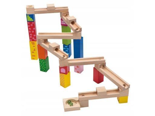 Drewniany tor zręcznościowy zabawa dziecko joueco