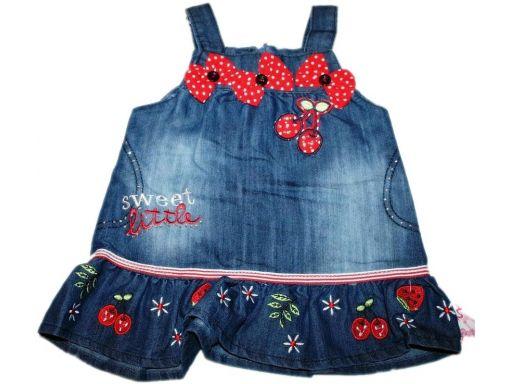 Cinen * piękna jeansowa sukieneczka - 74 cm