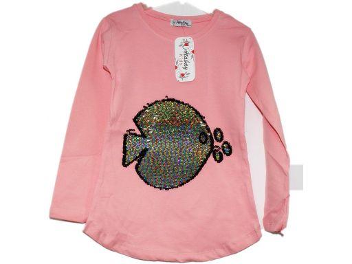 Atabay* tunika ryba tęczowe magiczne cekiny 10-11