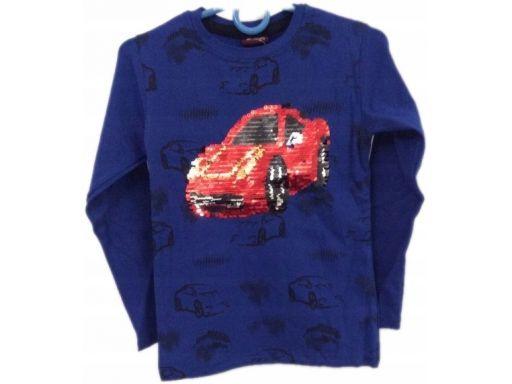 Enes bluzka samochód magiczne cekiny 1-2 l