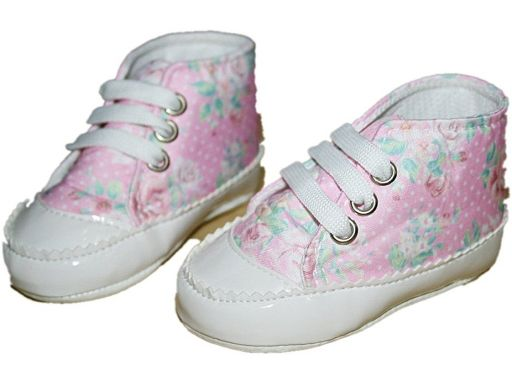 Domini * piękne buciki w kwiatki - 4- 8 m (2)