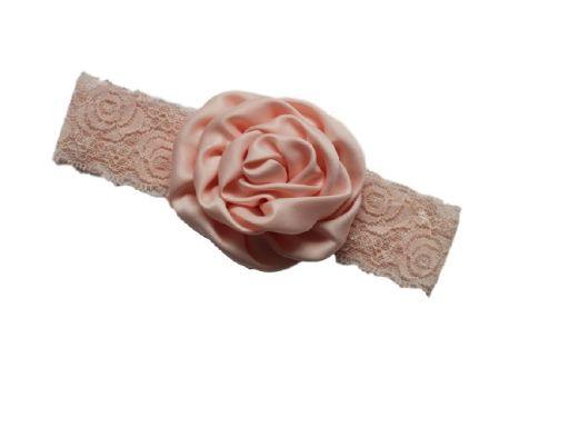 Urocza opaska roczek urodziny atłas róża *