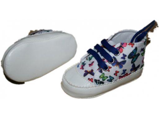 Piękne wysokie buciki w motylki - 4-8 m 2*